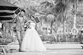 追求拍好每对新人的婚照是国色佳人摄影师努力