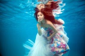 漳州婚纱摄影分享水下摄影及水下拍婚纱照的要