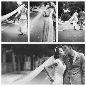 新娘用哪种姿势拍婚纱照会更有美感