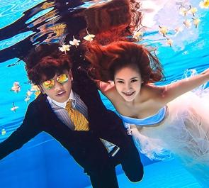 水下婚纱照 厦门水下婚纱